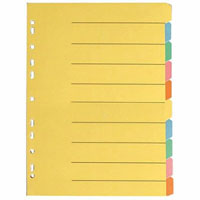OLYMPIC DIVIDER 10-TAB A4 BRIGHT ASSORTED