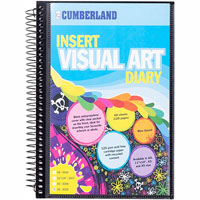 CUMBERLAND VISUAL ART DIARY WITH INSERT COVER SINGLE SPIRAL A5 BLACK