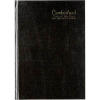 CUMBERLAND 2019-2020 FINANCIAL YEAR DIARY WEEK TO VIEW CASEBOUND A5 BLACK