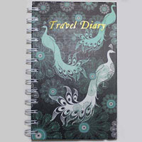 CUMBERLAND PEACOCK TRAVEL DIARY SPIRAL 170 X 105MM