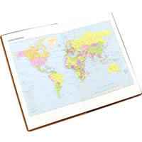 CUMBERLAND TRAVEL DIARY GLOBE DESIGN WITH CLEAR PVC COVER 150 X 95MM