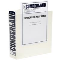 CUMBERLAND EARTHCARE INSERT RING BINDER 4D 40MM A4 WHITE