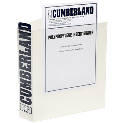 Image for CUMBERLAND EARTHCARE INSERT BINDER 3D RING A3 25MM WHITE from Axsel Office National