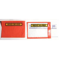 CUMBERLAND PACKAGING ENVELOPE INVOICE ENCLOSED RED BACK 175 X 115MM PACK 1000