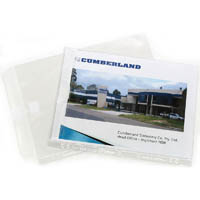 CUMBERLAND SHEET PROTECTOR WITH FLAP A4 CLEAR PACK 10
