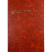COLLINS 3880 SERIES ACCOUNT BOOK FEINT PAGED 84 LEAF A4 RED