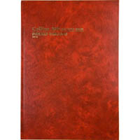 COLLINS 3880 SERIES ACCOUNT BOOK INDEXED THROUGH 84 LEAF A4 RED