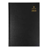 COLLINS 2020 STERLING DIARY DAY TO PAGE 1 HOUR A5 BLACK