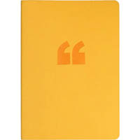 COLLINS EDGE NOTEBOOK RULED 240 PAGE RAINBOW EDGING A5 YELLOW
