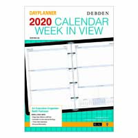 DEBDEN 2020 DAYPLANNER EXECUTIVE EDITION REFILL WEEK TO VIEW