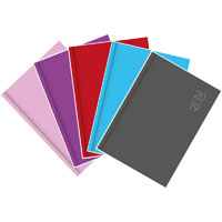 DEBDEN 2020 SILHOUETTE SERIES DIARY WEEK TO VIEW A4 ASSORTED PACK 5