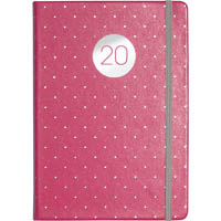 DEBDEN 2020 VAUXHALL PLUS DIARY DAY TO PAGE A5 PEACH AND POLKA DOTS