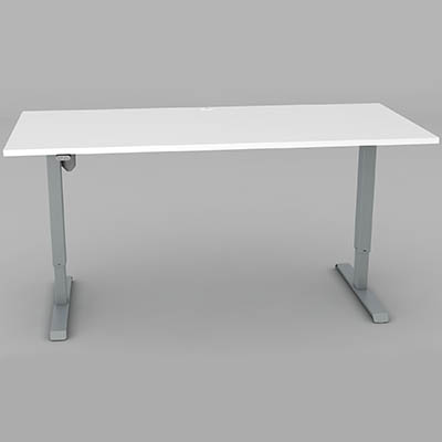 Image for CONSET 501-33 ELECTRIC HEIGHT ADJUSTABLE DESK 1800 X 800MM WHITE/SILVER from The Paper Bahn Office National