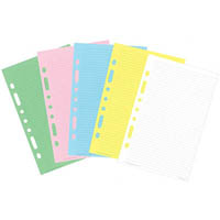 DEBDEN DAYPLANNER DESK EDITION REFILL NOTEPAD 216 X 140MM YELLOW/PINK/BLUE/WHITE
