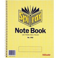 SPIRAX 592 NOTEBOOK SPIRAL BOUND SIDE OPEN 120 PAGE 222 X 178MM