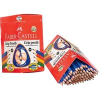 FABER-CASTELL JUMBO GRIP TRIANGULAR GRAPHITE PENCIL HB BOX 72