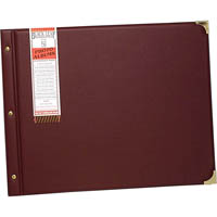 CUMBERLAND PHOTO ALBUM BLACK LEAF PVC GLASSINE INTERLEAVED 250 X 375MM ASSORTED