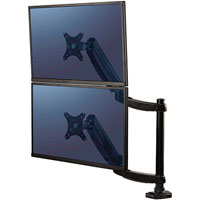 FELLOWES PLATINUM SERIES MONITOR ARM DUAL STACKING BLACK