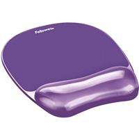 FELLOWES MOUSE PAD AND WRIST REST MEMORY FOAM GEL CRYSTALS PURPLE