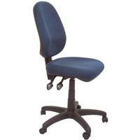 RAPIDLINE ERGONOMIC TYPIST CHAIR HIGH BACK SEAT/BACK TILT NAVY BLUE