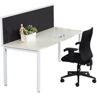 RAPID INFINITY 1 PERSON PROFILE LEG SINGLE SIDED WORKSTATION WITH SCREEN 1800 X 700MM WHITE