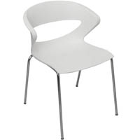 TAURUS VISITORS CHAIR WHITE