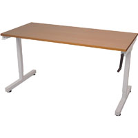RAPIDLINE TRIUMPH MANUAL HEIGHT ADJUSTABLE WORKSTATION 1500 X 700 X 715MM BEECH