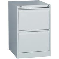 GO STEEL FILING CABINET 2 DRAWERS 460 X 620 X 705MM SILVER GREY