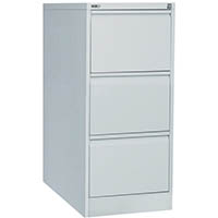 GO STEEL FILING CABINET 3 DRAWERS 460 X 620 X 1016MM SILVER GREY