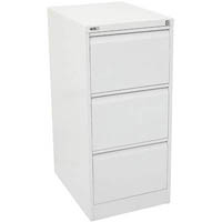 GO STEEL FILING CABINET 3 DRAWERS 460 X 620 X 1016MM WHITE CHINA
