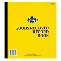 ZIONS GRR GOODS RECEIVED RECORD BOOK