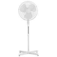 ITALPLAST PEDESTAL FAN 3 SPEED TILT ADJUSTABLE OSCILLATING HEAD 400MM WHITE