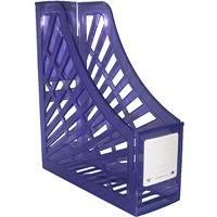 ITALPLAST MAGAZINE STAND TINTED PURPLE