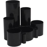 ITALPLAST GREENR DESK TIDY 6 COMPARTMENT BLACK