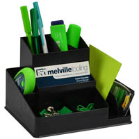 ITALPLAST GREENR DESK ORGANISER BLACK