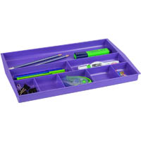 ITALPLAST DRAWER TIDY 8 COMPARTMENT GRAPE