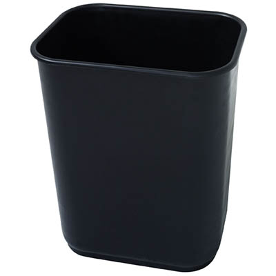 Image for JASTEK PLASTIC RECTANGULAR WASTE BIN 26.5 LITRE BLACK from Mackay Business Machines (MBM)