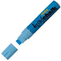 TEXTA JUMBO LIQUID CHALK MARKER WET WIPE CHISEL 15MM BLUE