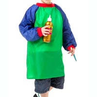 EDUCATIONAL COLOURS JUNIOR ARTIST SMOCKS GREEN/BLUE