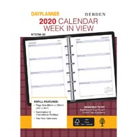 DEBDEN 2019 DAYPLANNER PERSONAL EDITION REFILL WEEK TO VIEW 6 RING
