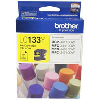 BROTHER LC133Y INK CARTRIDGE YELLOW