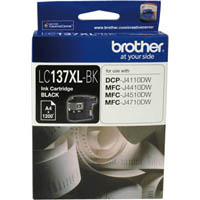 BROTHER LC137XLBK INK CARTRIDGE HIGH YIELD BLACK