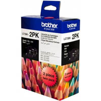 BROTHER LC73BK2PK INK CARTRIDGE BLACK PACK 2