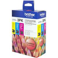 BROTHER LC73CL3PK INK CARTRIDGE VALUE PACK CYAN/MAGENTA/YELLOW