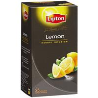 SIR THOMAS LIPTON TEA BAGS FOIL ENVELOPE LEMON PACK 25