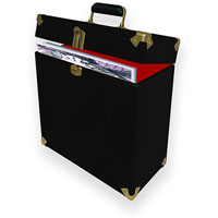 MBEAT VINYL RECORD STORAGE CARRIER CASE VINTAGE BLACK