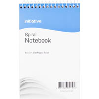 INITIATIVE SPIRAL NOTEBOOK TOP BOUND 200 X 127MM 200 PAGE