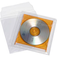 CUMBERLAND CD/DVD POCKET SELF ADHESIVE WITH FLAP 160 X 170MM PVC CLEAR PACK 5