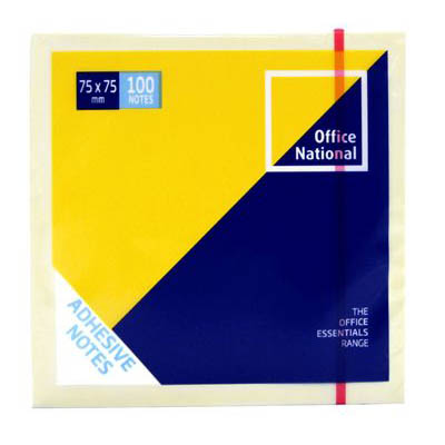 Image for OFFICE NATIONAL PREMIUM NOTES 75 X 75MM YELLOW PACK 12 from Mackay Business Machines (MBM)