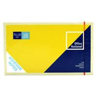 OFFICE NATIONAL PREMIUM NOTES 75 X 127MM YELLOW PACK 12